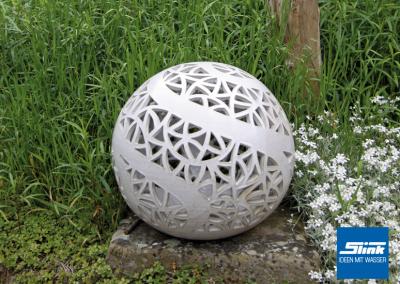 Gartenlicht Keramikkugel